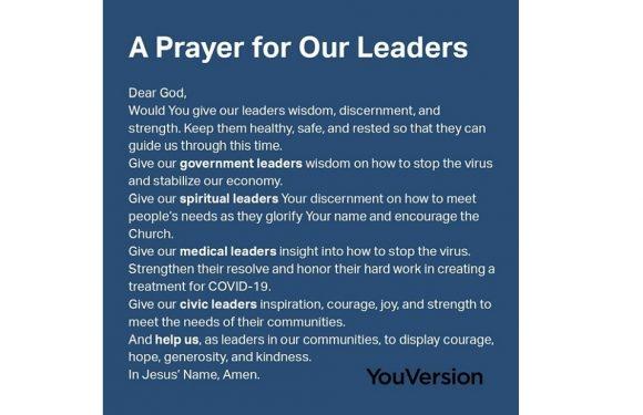 Prayer for Leaders
