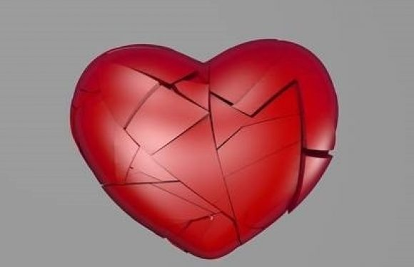 Broken heart being pieced back together