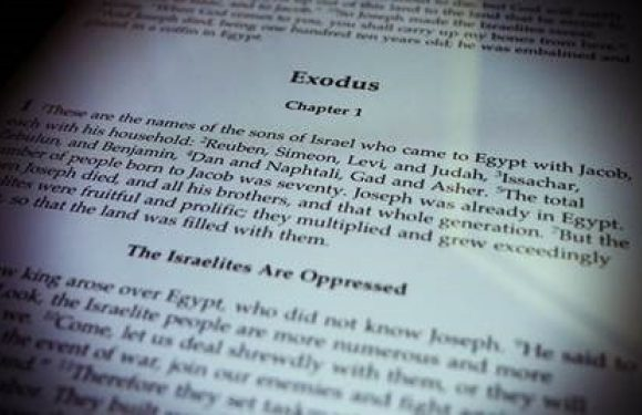 Bible open to Exodus 1