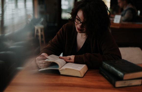 Woman Studying from the Bible