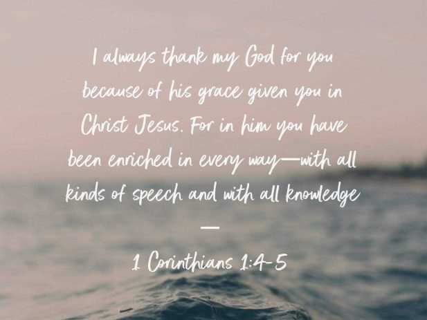 1 Corinthians 1:4-5
