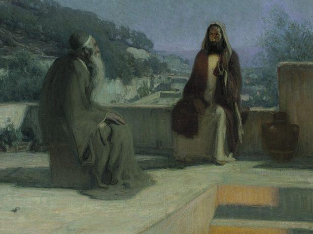 Henry Ossawa Tanner Jesus and nicodemus