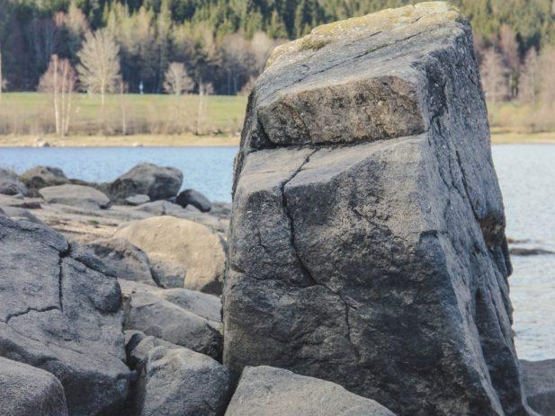 Large Rock near a River