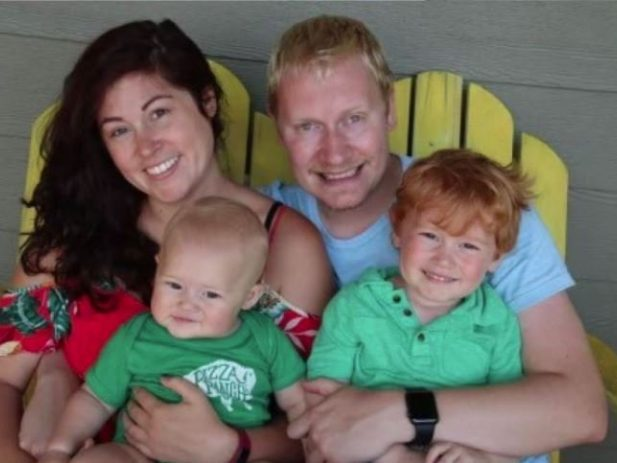 Pizza Ranch manager, Kevin Boon, with his family