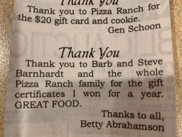 Newspaper Thank You
