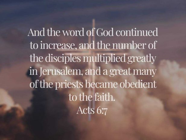 Acts 6:7 text