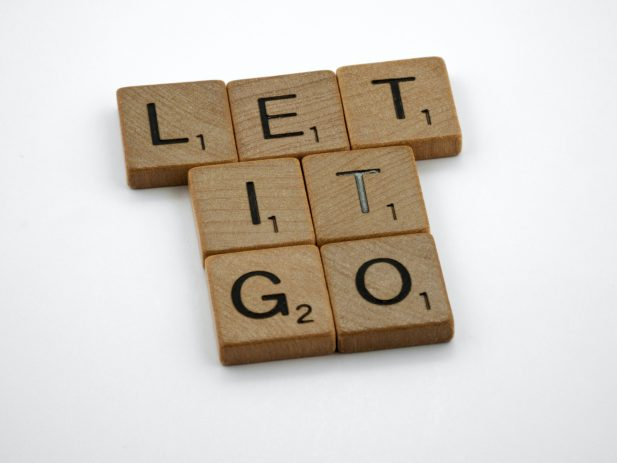 LET IT GO - Scrabble Letters