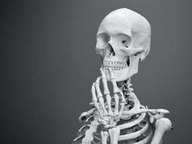 skeleton in thinking pose
