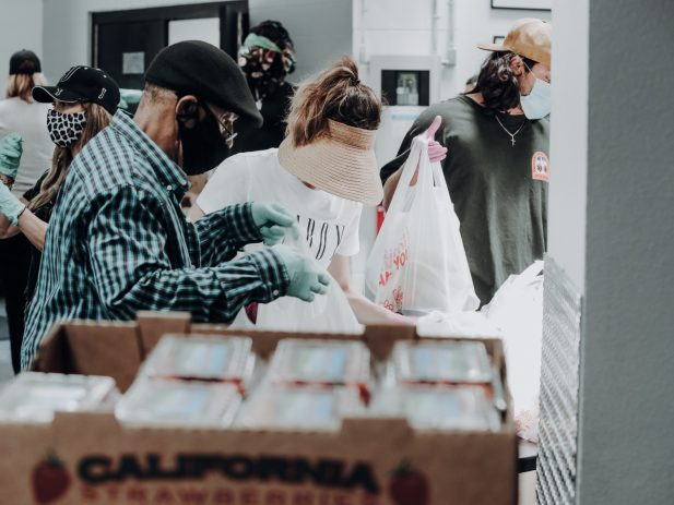 Workers at a Food Bank