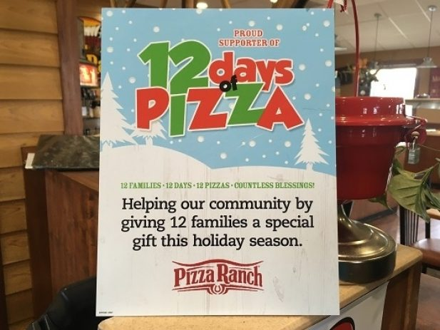 Pizza ranch 12 days of pizza 121119 2