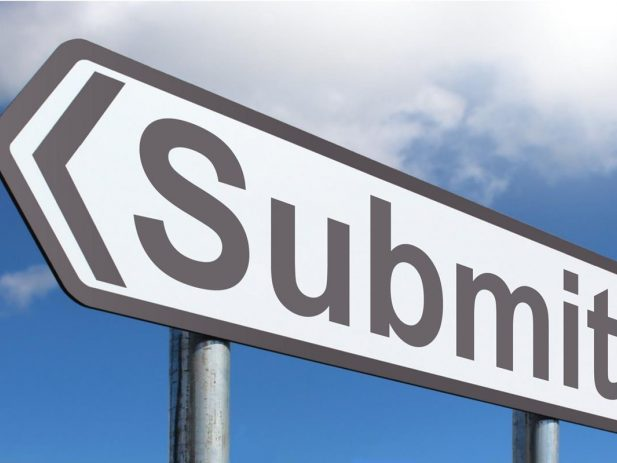 Road sign that says Submit