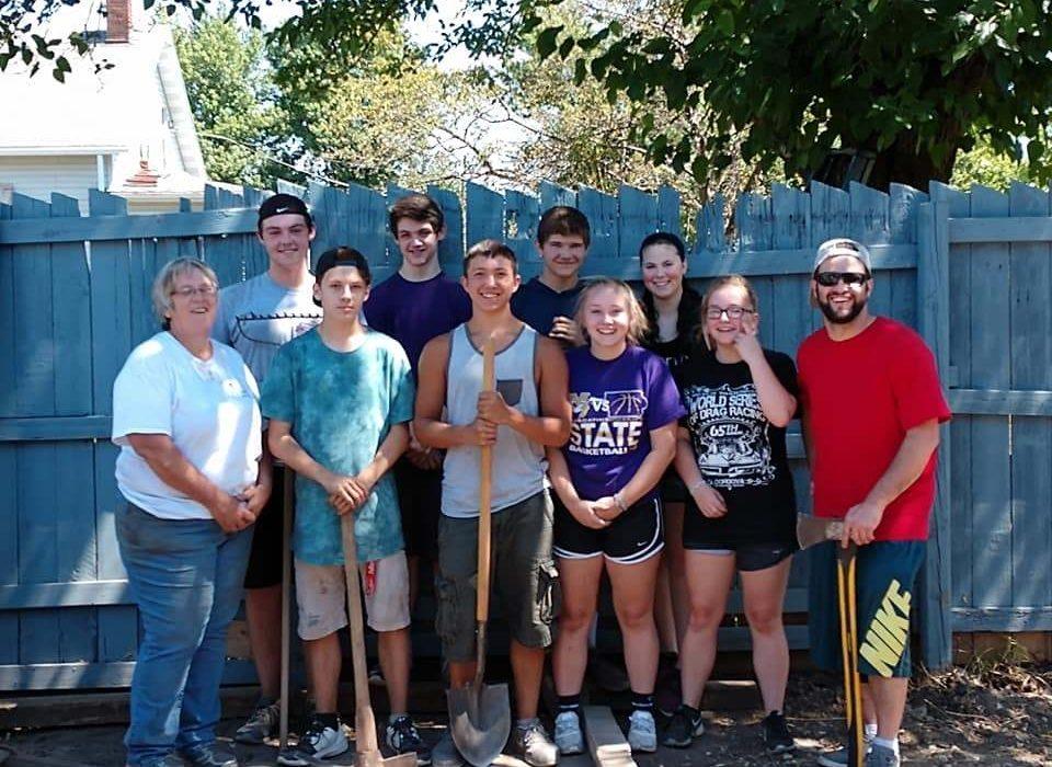 Volunteer team from Muscatine
