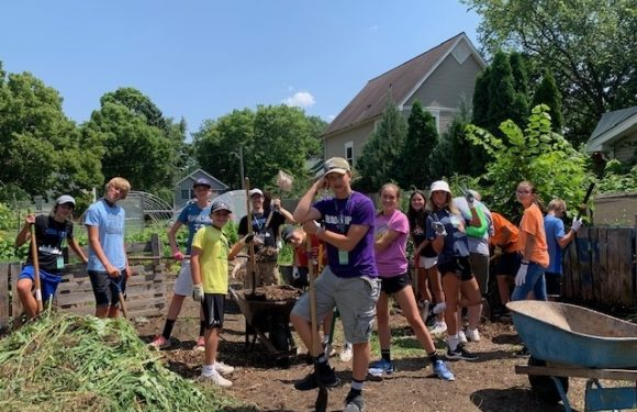 Youth Group helping in garden