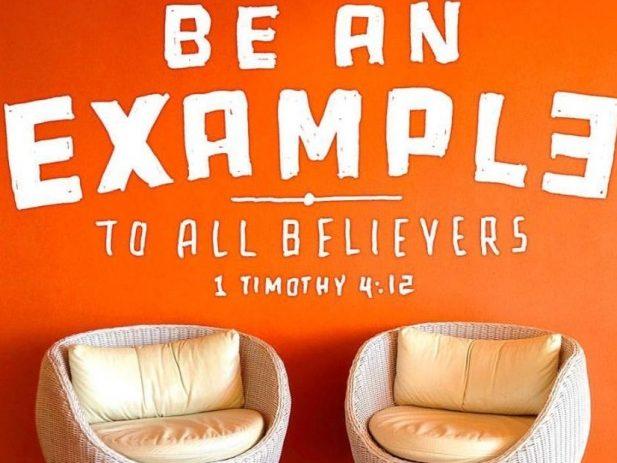 Orange image with Bible verse