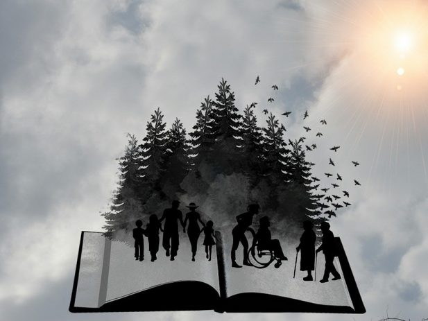 Bible Image with People Gathered togeter