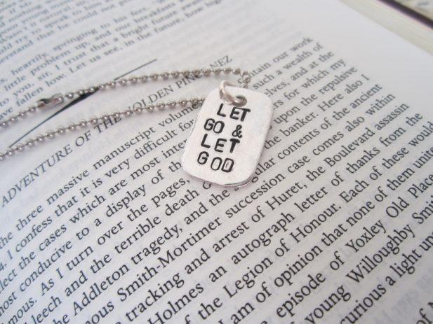 """Bracelet saying """"Let Go & Let God"""""""
