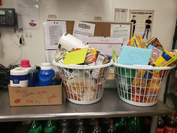 Household items for a team member
