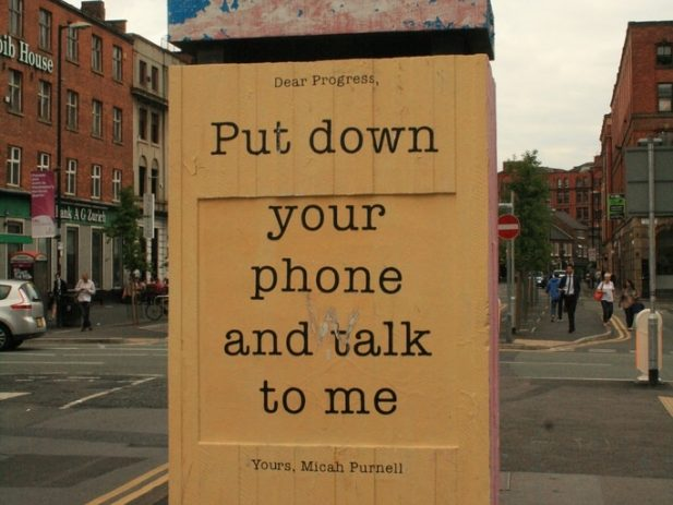 """Sign saying """"Put Down Your Phone"""""""