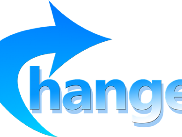 Change text