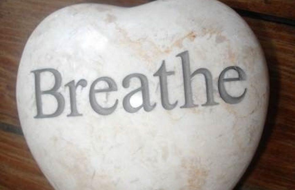 Rock That Says Breathe